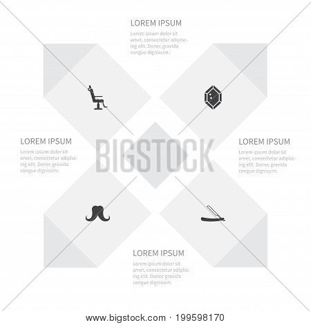 Icon Fashion Set Of Sharp, Wealthy, Elbow Chair And Other Vector Objects