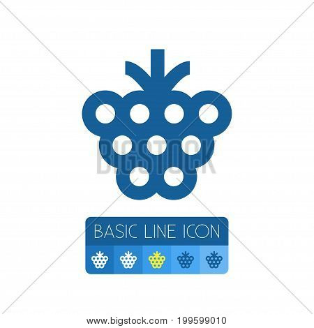 Shrubby Vector Element Can Be Used For Razz, Raspberry, Berry Design Concept.  Isolated Berry Outline.