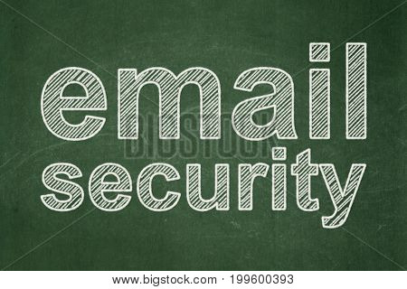 Security concept: text Email Security on Green chalkboard background
