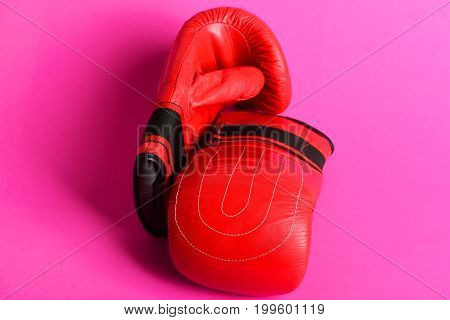 Sport Gloves For Boxing And Other Martial Arts In Red