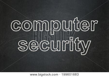 Security concept: text Computer Security on Black chalkboard background