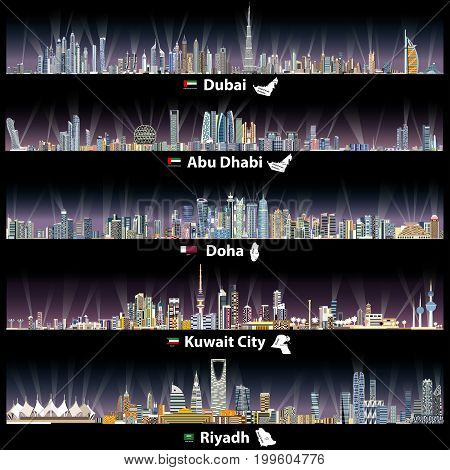 Arabic Cities At Night