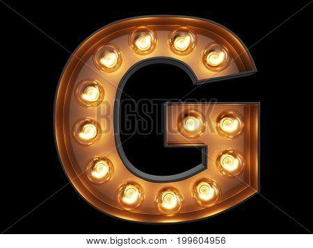 Light Bulb Alphabet Character G Font
