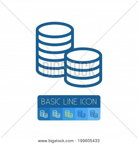 Chip Vector Element Can Be Used For Chip, Stack, Casino Design Concept.  Isolated Stack Outline.
