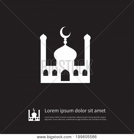 Mosque Vector Element Can Be Used For Traditional, Mosque, Minaret Design Concept.  Isolated Traditional Icon.