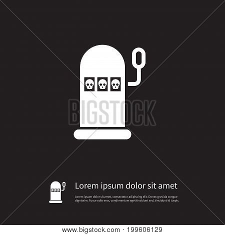 Win  Vector Element Can Be Used For Luck, Win, Slot Design Concept.  Isolated Luck Icon.