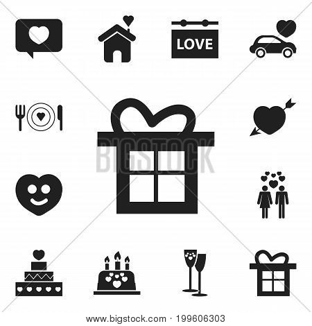 Set Of 12 Editable Passion Icons. Includes Symbols Such As Beau, Passion, Love Message And More