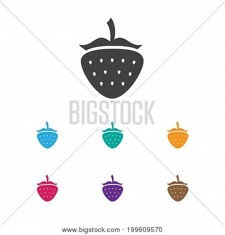 Vector Illustration Of Vegetable Symbol On Strawberry Icon