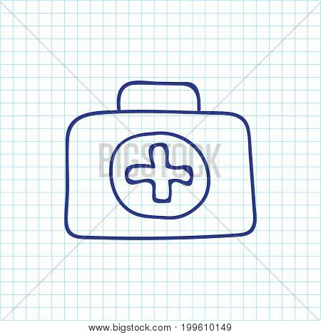 Vector Illustration Of Trip Symbol On First Aid Doodle
