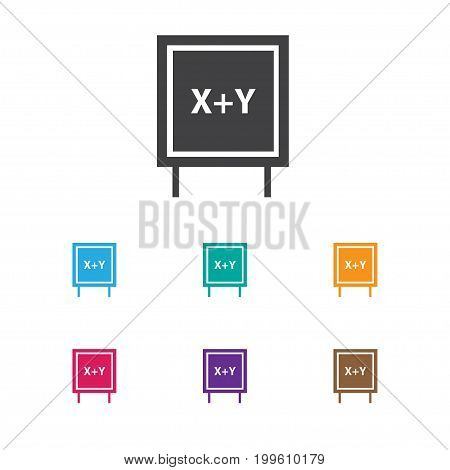 Vector Illustration Of Teach Symbol On Writing Board Icon