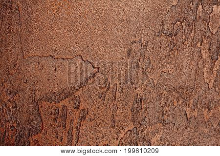 Abstract brown bumpy wall stucco texture background