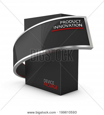 Realistic Package Box. For Presentation Software, Electronic Device And Other Products. 3D Illustrat