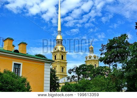 The Peter and Paul Cathedral (Cathedral for the First Apostles Peter and Paul) is an Orthodox cathedral in St. Petersburg in the Peter and Paul Fortress, the tomb of Russian emperors.