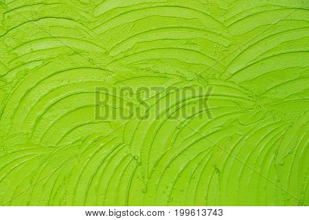 Green fresh Uneven Plaster wall abstract texture background
