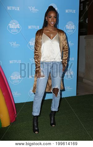 LOS ANGELES - AUG 10:  Kelly Rowland at the True and the Rainbow Kingdom Series LA Premiere at the Pacific Theater At The Grove on August 10, 2017 in Los Angeles, CA