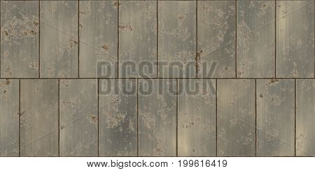 Dirty Rusty Bronze Seamless Metal Tile Plate Texture