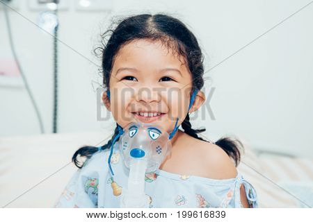 Sick children in hospital, saline solution intravenously.