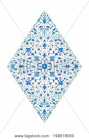 Islamic floral mandala decor in Victorian style. Vector illustration. Card for cafe, restaurant, shop, print,  India, Arabic, Dubai, turkish, Islam, ottoman motifs  Save the date and greeting card