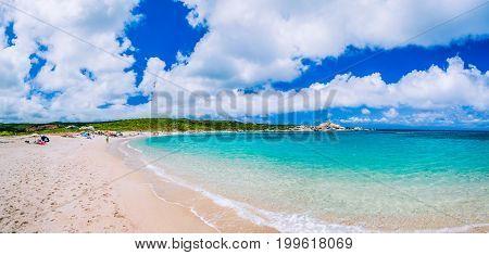 Azure beach near Porto Pollo. Beautiful Sardinia island, Sardinia, Italy.