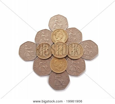 British, Uk, Coins.