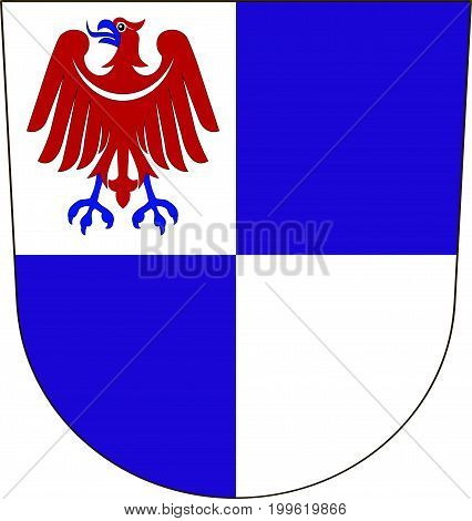 Coat of arms of Schwarzwald-Baar is a district in the south of Baden-Wurttemberg Germany. Vector illustration from the