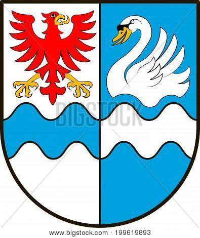 Coat of arms of Villingen-Schwenningen is a city in Baden-Wurttemberg Germany. Vector illustration from the