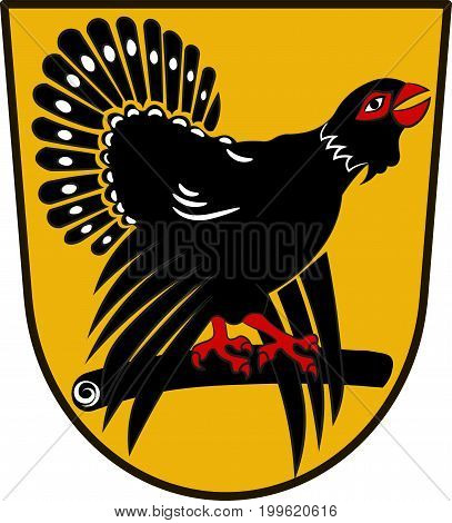 Coat of arms of Freudenstadt is a district in the middle of Baden-Wurttemberg Germany. Vector illustration from the