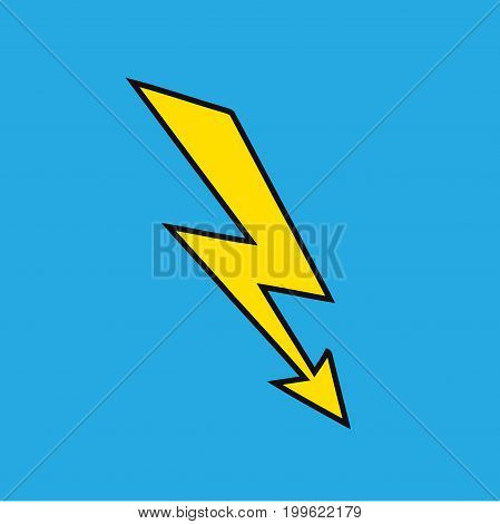 Lightning bolt icon. Electricity sign isolated on background. Vector stock.