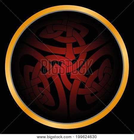 Magic sign in Celtic style on a white background.