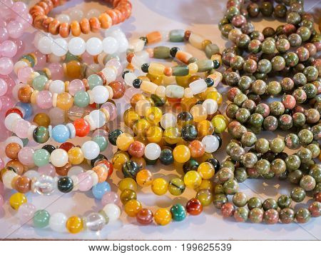 Bangles and stones for luck and prosperity.