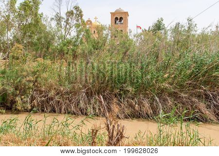 The baptismal site Qasr al Yahud in the Jordan river , Israel