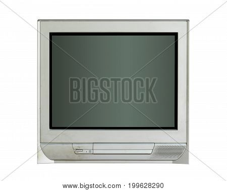 Old tv (with clipping path) isolated on white background