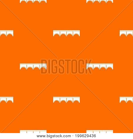 Direct bridge pattern repeat seamless in orange color for any design. Vector geometric illustration