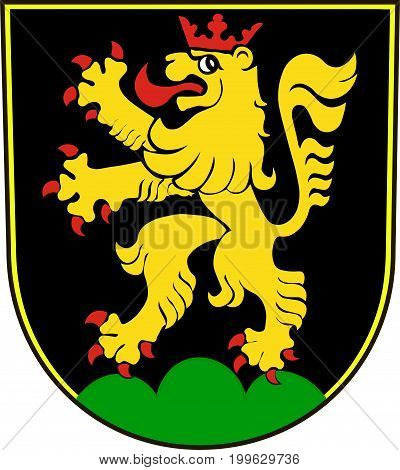 Coat of arms of Heidelberg is a college town in Baden-Wurttemberg of Germany. Vector illustration from the