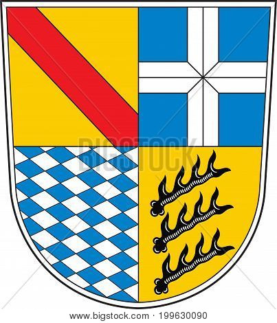 Coat of arms of Karlsruhe is a district in the northwest of Baden-Wurttemberg Germany. Vector illustration