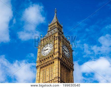 Big Ben In London (hdr)