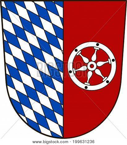 Coat of arms of Neckar-Odenwald-Kreis is a district in the north of Baden-Wurttemberg Germany. Vector illustration from the