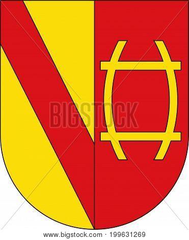 Coat of arms of Rastatt is a town in the District of Rastatt Baden-Wurttemberg Germany. Vector illustration