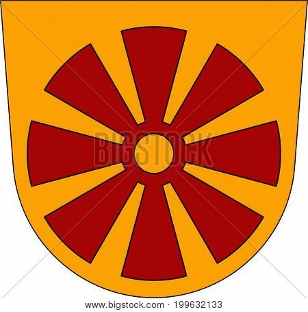Coat of arms of Markdorf is a town in the Bodensee district in Baden-Wurttemberg Southern Germany. Vector illustration from the