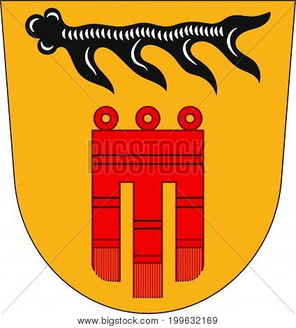Coat of arms of Boblingen is a district in the middle of Baden-Wurttemberg Germany. Vector illustration from the