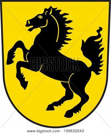 Coat of arms of Stuttgart is the capital and largest city of the state of Baden-Wuerttemberg in southwest Germany. Vector illustration from the
