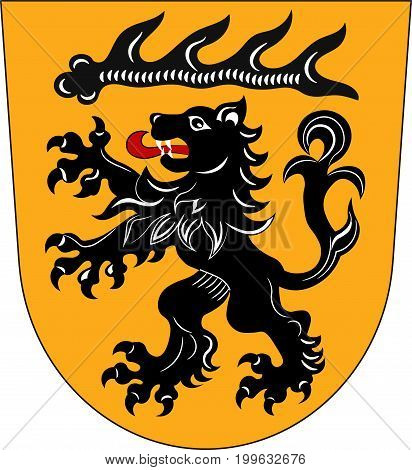 Coat of arms of Goppingen is a district in the middle of Baden-Wurttemberg Germany. Vector illustration from the