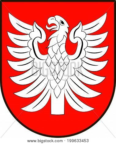 Coat of arms of Heilbronn is a district in the north of Baden-Wurttemberg Germany. Vector illustration from the