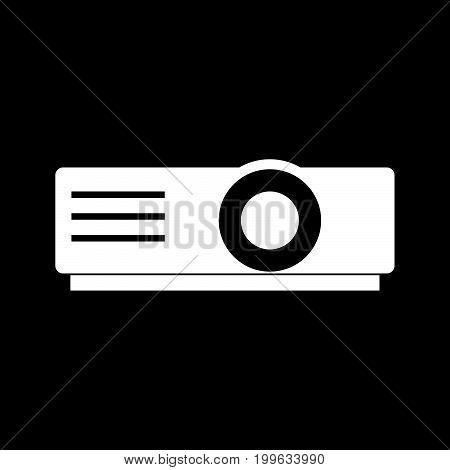 Projector White Color Icon .