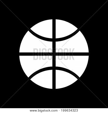 Basketball Ball White Color Icon .