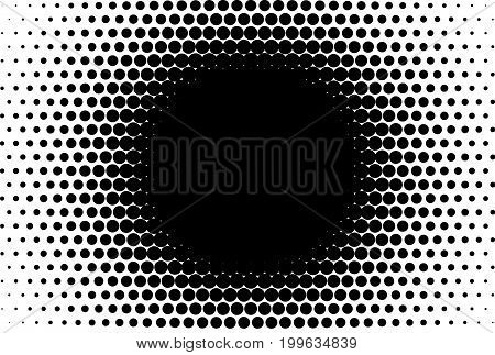 Comic background. Halftone dotted retro pattern with circles, dots, design element for web banners, posters, cards, wallpapers, backdrops, sites. Pop art style. Vector illustration.Black and white.