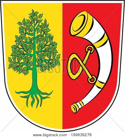 Coat of arms of Friedrichshafen is city in Baden-Wurttemberg of Southern Germany. Vector illustration from the