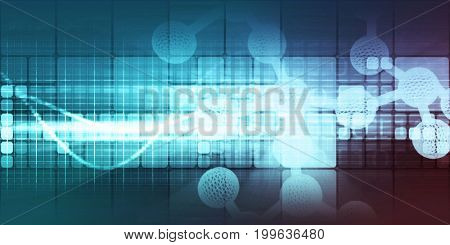 Medical Background for Research and Development Science Concept 3D Illustration Render