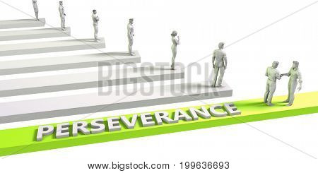 Perseverance Mindset for a Successful Business Concept 3D Illustration Render