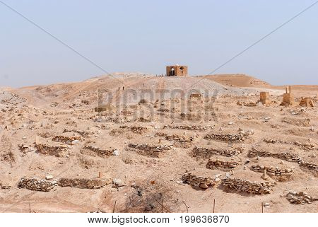 Nabi Musa site and mosque at Judean desert, Israel